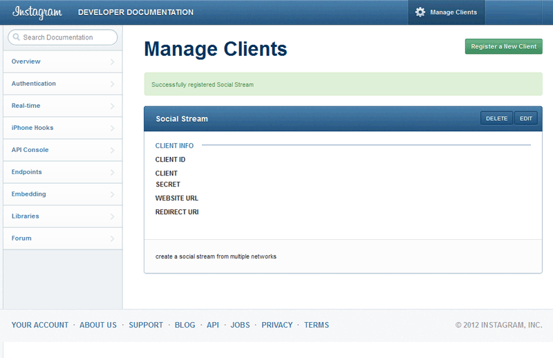 jQuery Plugin - Social Stream Documentation